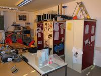 newly arranged storage and working tables